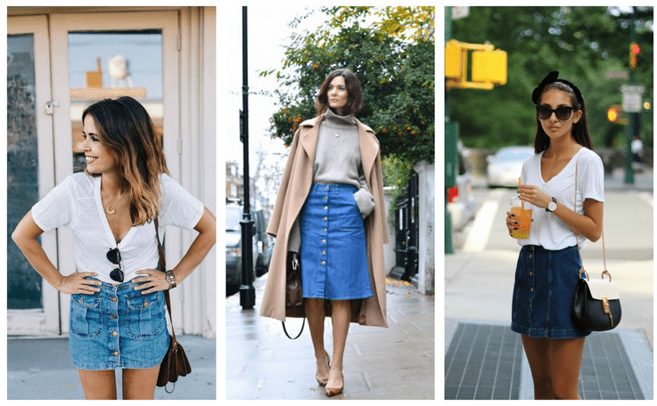 6 Ways To Wear A Button Front Skirt Like A Fashionista | Career ...
