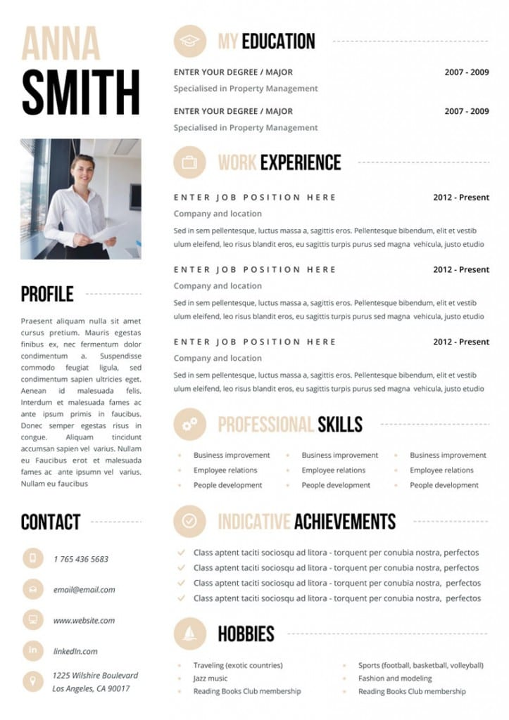 this is one impressive cv template to have there is a mass of information on the page but it remains professional and well balanced the key to a good cv