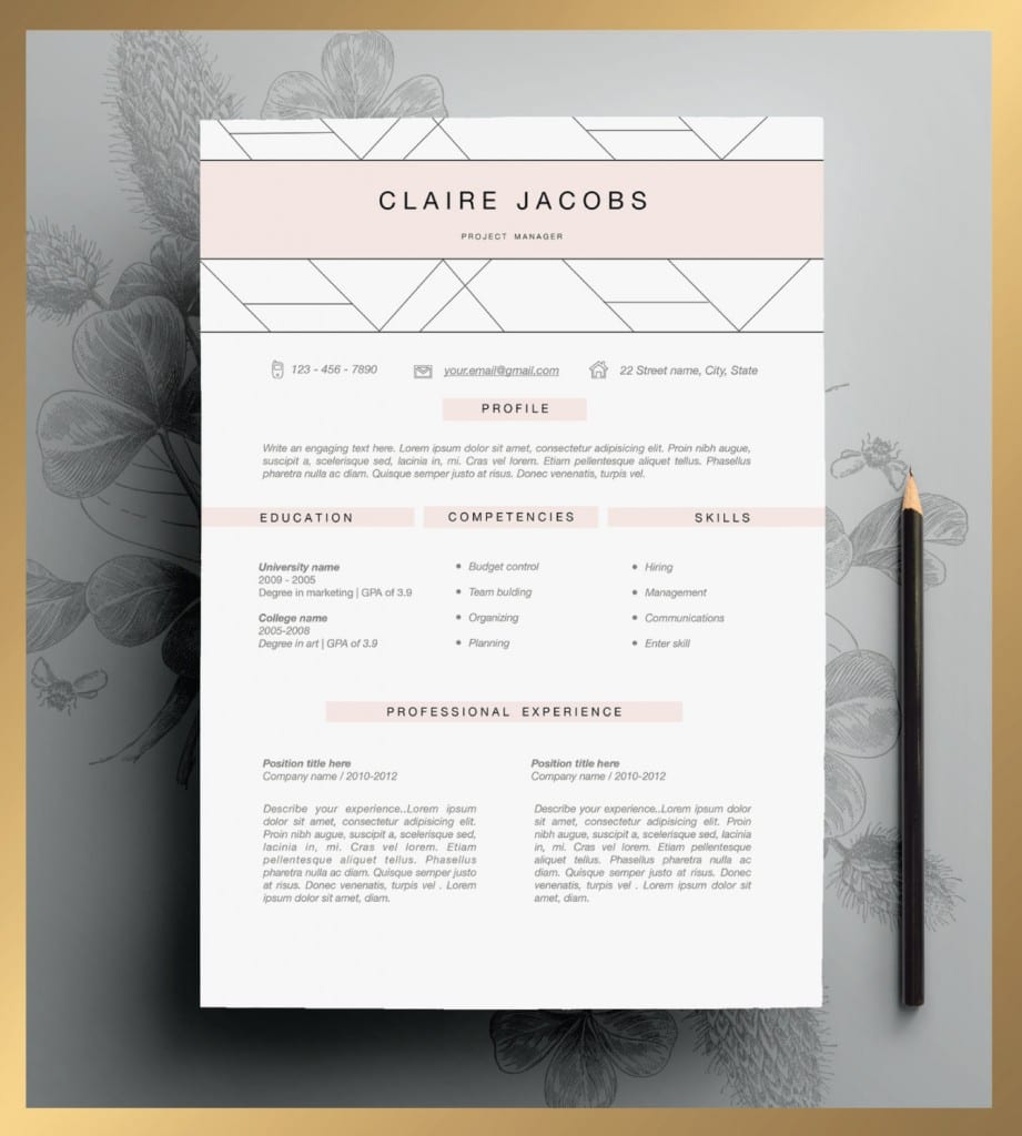 looking for a job  you need one of these killer cv templates from etsy