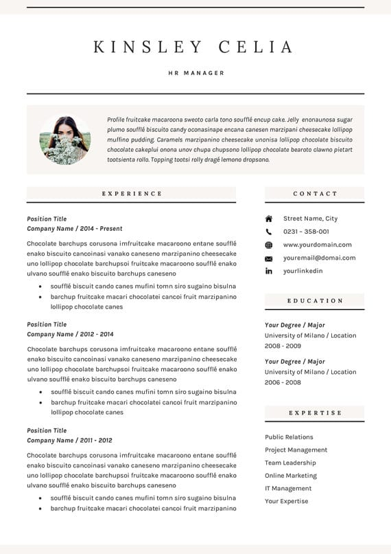 14 incredible cv templates for every job type